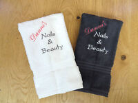 PERSONALISED BUSINESS HAND TOWELS - BEAUTIFULLY EMBROIDERED - ANY TEXT NEXT DAY