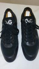 Dolce & Gabbana Men's Black Leather Suede Shoes Sneakers Spider Size 43  9US