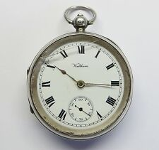 large Antique Silver Open Face Waltham Pocket Watch