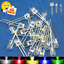 100 X 5mm Ultra Bright LEDs White/Red/Green/Blue Lamp Emitting Diode Water Clear