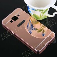 Luxury Aluminium Phone Protective Case Metal Bumper Soft Mirror Back Cover Skin