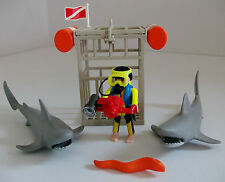Playmobil Deep Sea Shark Diver 4500 with Extra Shark