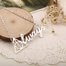 Always Necklace Deathly Hallows Silver Letter Vintage Triangle Pendant Jewellery