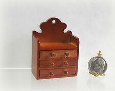 Dollhouse Miniature Reutter Wood Wall Shelf