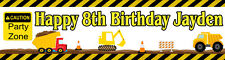 4ft Personalized Name Construction Truck Boy Birthday Party Banner Party Decor
