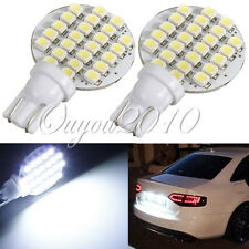 2x Bombilla T10 W5W 24 SMD 1210 LED Panel Blanco Coche Side Wedge Lámpara Light