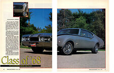 1968 OLDSMOBILE HURST/OLDS 455  ~  GREAT 3-PAGE MUSCLE CAR ARTICLE / AD