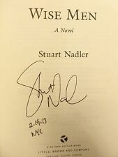 """WISE MEN by Stuart Nadler """"SIGNED & DATED & NYC"""" 2013 HB 1ST/1ST BRAND NEW"""