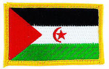FLAG PATCH PATCHES WESTERN SAHARA   IRON ON COUNTRY EMBROIDERED WORLD FLAG