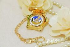 Anime Sailor Moon 20th Anniversary Pocket Watch Golden Color Music Box Gift