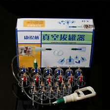 Healthy 24 Cups Chinese Vacuum Body Cupping Massage Therapy Healthy Suction Set