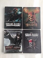 Pirates of the Caribbean 1-4 Blu-ray Steelbook Future Shop Exclusive! OOS/OOP!