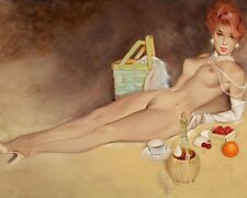 FRITZ WILLIS 8X10 PIN-UP GIRL ART PRINT 1682
