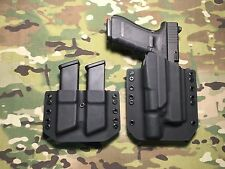 Black Kydex Light Holster Glock 17/22/31 Surefire X300 Ultra w/Mag Carrier