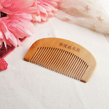 Natural Wide Tooth Peach Wood No-static Massage Hair Mahogany Comb NEW Q2A4