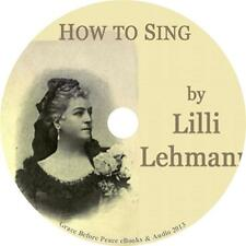 How to Sing, Lilli Lehmann Musical Voice Coach Audiobook on 1 MP3 CD