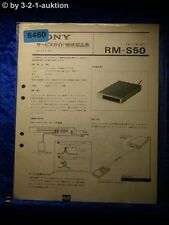 Sony Service Manual RM S50 (chinesisch ?) Remote Commander (#6460)