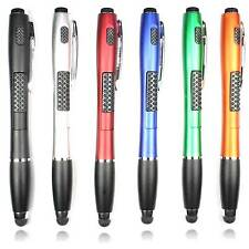 6X 3-in-1 Capacitive Touch Screen Ballpoint Pen + Stylus + LED Flashlight + Ink