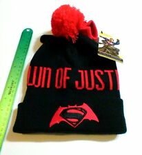SUPERMAN COLD WEATHER GEAR Dawn Of Justice Gloves And Pom-Pom Hat Set DC COMICS