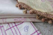 Antique French fabric vintage material PROJECT toile de Jouy  patchwork pillows