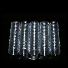10X 23mm Applied Clear Round Cases Coin Storage Capsules Holder Plastic New