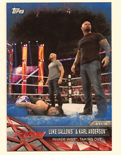 LUKE GALLOWS & KARL ANDERSON 2017 TOPPS ROAD TO WRESTLEMANIA BLUE PARALLEL /99