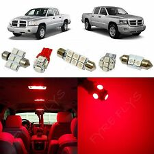 5x Red LED lights interior package kit for 2005-2011 Dodge Dakota DD1R