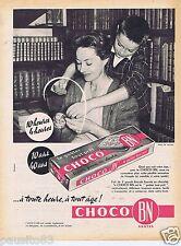 Publicité Advertising 106 1961 Choco BN biscuits fourrés au chocolat
