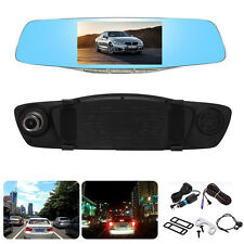 HD 1080p Car Dash Camera Dual Cam Vehicle Front Rear DVR Lens Recorder Video 5""