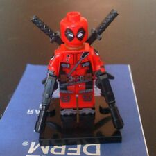 Deadpool Minifigure Minifigures Toys Marvel Super Heroes Custom Lego