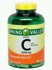 2x Spring Valley Vitamin C 1000mg Rose Hips IMMUNE HEALTH Supplement 250 Tablets