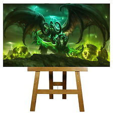 "World Of Warcraft Legion Canvas Wall Art 20"" x 12"" ....Figure,Pc Game NEW"