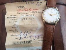 VINTAGE OMEGA WATCH WITH CALIBER 285 MANUAL MOVEMENT WITH PAPERWORK