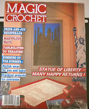 Magic Crochet Statue of Liberty Filet Crochet Doilies Runners Mats Tablecloths