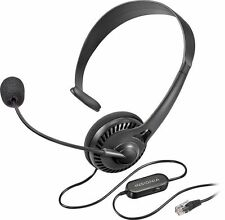 Insignia Landline Phone Hands-Free Headset With RJ9 Connection Black NEW