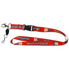 NEWFOUNDLAND CANADA PROVINCIAL FLAG LANYARD KEYCHAIN PASSHOLDER .. NEW