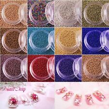12 Colors Nail Art Supplies Manicure Acrylic Steel Ball Decoration Hot Selling