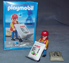 Playmobil port workers with hand truck 4475 Complete + Box VGC