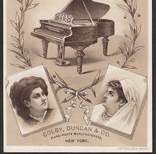 Colby, Duncan & Co Piano-Forte Manufacturer New York City Advertising Trade Card