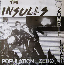 "THE INSULTS 7"" POPULATON ZERO AUTHORITIES DILS LEWD EYES ZEROS NUBS FANG HUNS"