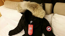 2015 EDITION BLACK (RED LABEL) CANADA GOOSE TRILLIUM EXTRA-SMALL PARKA JACKET