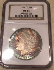 Morgan Silver Dollar Carson City MS64 1884 CC NGC Monster Tone Huge Eye Appeal