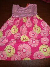 NWT Gymboree Spring hop n roll dress 5 5t pink striped daisy retro floral comfy
