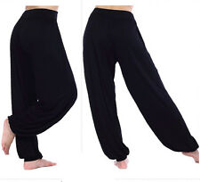 WOMENS HAREM TROUSERS Wide Leg LONG PANTS YOGA BAGGY LEGGINGS PLUS UK SIZE 8-22