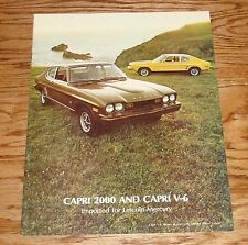 Original 1974 Mercury Capri 2000 & Capri V-6 Sales Brochure 74