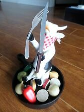 Cow Parade Rare Retired 2007 Italian Cow Chef in Hot Plate Peppers Onions