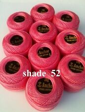 10 Anchor Pearl Cotton Crochet Embroidery Thread Balls in each Colour. Choose.