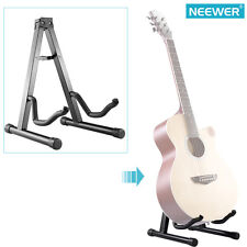 Neewer 16'' Black Portable Adjustable A-Frame Electric Guitar Floor Stand Holder