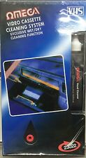 VCR VIDEO HEAD CLEANER VHS Registratore a Cassette Tape Pulitore sistema & Fuid Wet/Dry