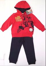 Marvel Comics The Might Thor Hoodie and Pants Blue Boy's Set Size 2 100% Cotton